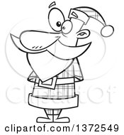 Black And White Christmas Santa Claus In A Plaid Suit