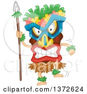 Clipart Of A Tiki Dancer Royalty Free Vector Illustration