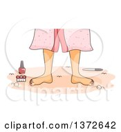 Clipart Of A Womans Feet With Pedicure Tools Royalty Free Vector Illustration by BNP Design Studio