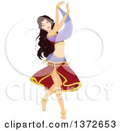 Clipart Of A Woman Belly Dancing Royalty Free Vector Illustration