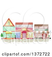 Clipart Of Shop Facades Royalty Free Vector Illustration