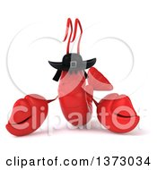 Clipart Of A 3d Breton Lobster On A White Background Royalty Free Illustration by Julos