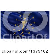 Clipart Of A 3d Rippling State Flag Of Indiana USA Royalty Free Illustration by stockillustrations