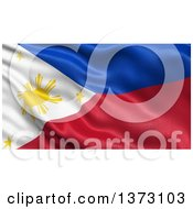 Clipart Of A 3d Waving Flag Of The Philippines Royalty Free Illustration