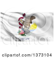 Clipart Of A 3d Rippling State Flag Of Illinois USA Royalty Free Illustration