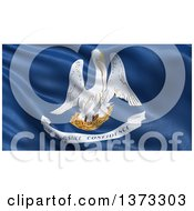 Clipart Of A 3d Rippling State Flag Of Louisiana USA Royalty Free Illustration