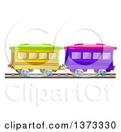Clipart Of Train Cars Royalty Free Vector Illustration