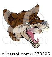 Coyote Mascot Head Howling
