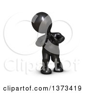 Clipart Of A 3d Black Man Forming A Heart With His Hands On A White Background Royalty Free Illustration