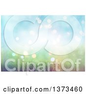 Clipart Of A Background Of 3d Grass And Soft Sunlight With Flares Royalty Free Illustration