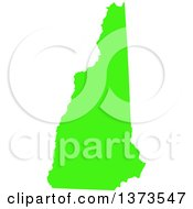 Clipart Of A Lyme Disease Awareness Lime Green Colored Silhouetted Map Of The State Of New Hampshire United States Royalty Free Vector Illustration