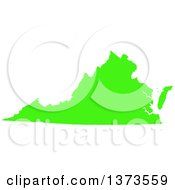 Clipart Of A Lyme Disease Awareness Lime Green Colored Silhouetted Map Of The State Of Virginia United States Royalty Free Vector Illustration by Jamers