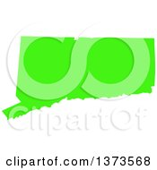 Clipart Of A Lyme Disease Awareness Lime Green Colored Silhouetted Map Of The State Of Connecticut United States Royalty Free Vector Illustration