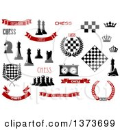 Clipart Of Chess Design Elements Royalty Free Vector Illustration
