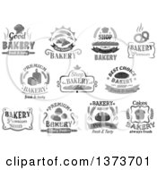 Grayscale Bakery Text Designs