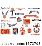 Clipart Of Basketball Sports Designs With Text Royalty Free Vector Illustration