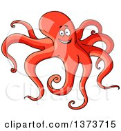 Clipart Of A Cartoon Octopus Royalty Free Vector Illustration by Vector Tradition SM