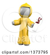 3d White Cleaning Lady At A Crime Scene On A White Background