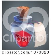 Magic Potion Bottle And Label On A Gradient Background