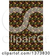 Clipart Of A Brown And Black Glass Abstract Fractal Pattern Background Royalty Free Illustration