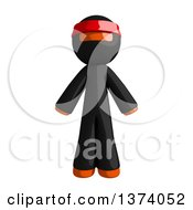 Clipart Of An Orange Man Ninja On A White Background Royalty Free Illustration