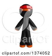 Orange Man Ninja On A White Background