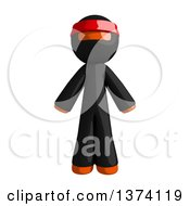 Clipart Of An Orange Man Ninja On A White Background Royalty Free Illustration by Leo Blanchette