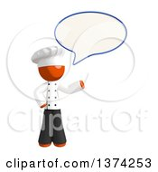 Clipart Of An Orange Man Chef Talking On A White Background Royalty Free Illustration by Leo Blanchette