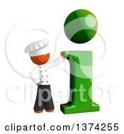 Clipart Of An Orange Man Chef With An I Information Icon On A White Background Royalty Free Illustration by Leo Blanchette