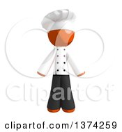Clipart Of An Orange Man Chef On A White Background Royalty Free Illustration by Leo Blanchette