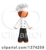 Orange Man Chef On A White Background