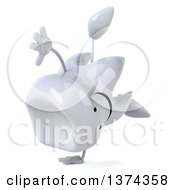 Clipart Of A 3d Happy Tooth Character On A White Background Royalty Free Illustration