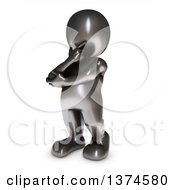 Clipart Of A 3d Black Man Thinking On A White Background Royalty Free Illustration by KJ Pargeter