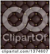 Clipart Of A Background Of 3d Black Quilted Leather Upholstery Royalty Free Illustration