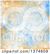 Poster, Art Print Of Background Of Blue And Orange Oil Paint Strokes