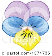 Clipart Of A Pansy Flower Royalty Free Vector Illustration by Pushkin