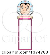 Clipart Of A Block Headed White Man Valentine Cupid Bookmark Royalty Free Vector Illustration by Cory Thoman