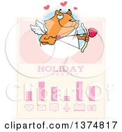 Clipart Of A Valentines Day Cupid Ginger Cat Schedule Design Royalty Free Vector Illustration