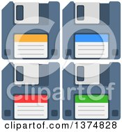Clipart Of Computer Diskettes Royalty Free Vector Illustration by Liron Peer