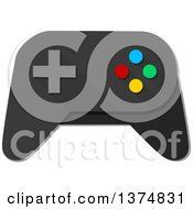 Clipart Of A Video Game Controller Royalty Free Vector Illustration