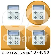 Clipart Of Calculator Icons Royalty Free Vector Illustration