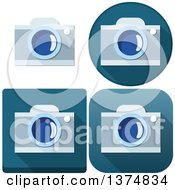 Clipart Of Camera Icons Royalty Free Vector Illustration