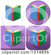 Clipart Of Book Icons Royalty Free Vector Illustration by Liron Peer