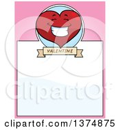 Happy Valentine Heart Character Page Border