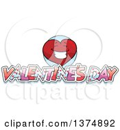 Clipart Of A Happy Valentine Heart Character With Text Royalty Free Vector Illustration by Cory Thoman