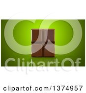 Clipart Of A 3d Chocolate Bar On A Reflective Green Background Royalty Free Illustration by Julos