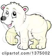 Clipart Of A Happy Polar Bear Royalty Free Vector Illustration by visekart