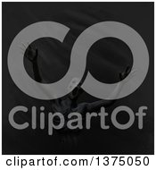 Clipart Of A Clay Man Screaming And Being Devoured By Darkness Royalty Free Illustration