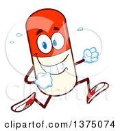Happy Pill Mascot Running