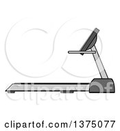 Clipart Of A Gray Treadmill Royalty Free Vector Illustration
